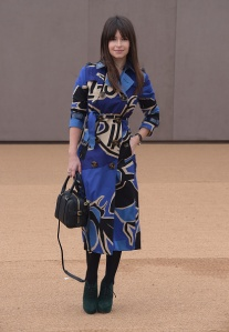 LONDON, ENGLAND - FEBRUARY 23: Miroslava Duma attends the Burberry Prorsum AW 2015 arrivals during London Fashion Week at Kensington Gardens on February 23, 2015 in London, England. (Photo by Gareth Cattermole/Getty Images for Burberry)