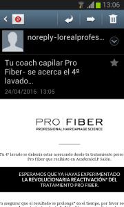 #Coach Capilar: llegó el recordatorio a mi correo electrónico.