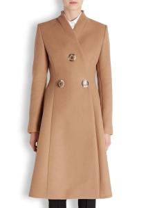 modazip stella mccartney flared wool coat